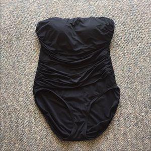 Merona black strapless one piece